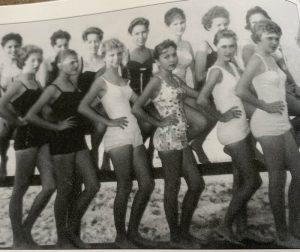 Vintage photo of a beauty pageant in Mexico Beach